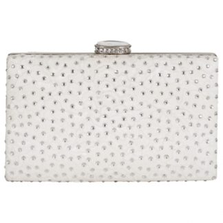 Chesca Floral Lace Diamante Clutch Bag