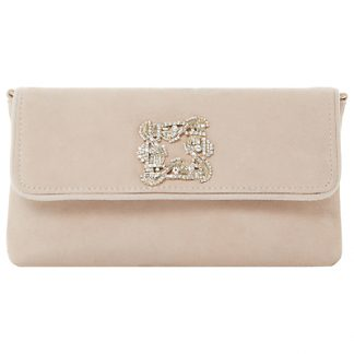 Dune Betsey Foldover Jewelled Clutch Bag