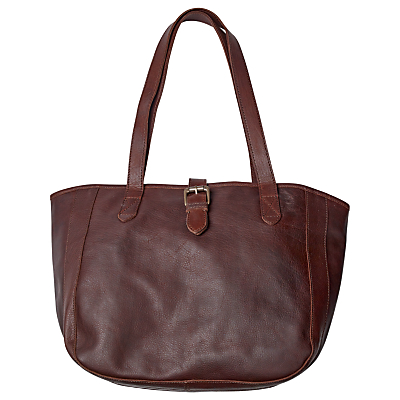 Fat Face Small Buckle Oiled Leather Tote Bag