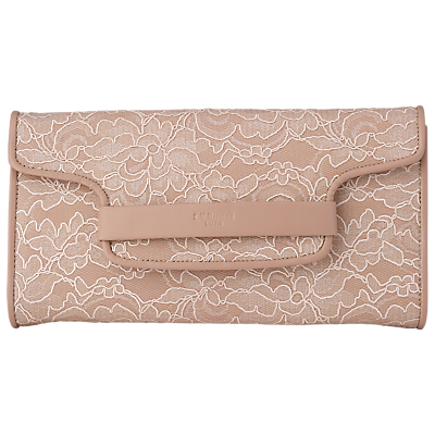 L.K. Bennett Laura Leather Lace Clutch Bag
