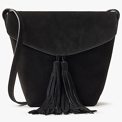AND/OR Mila North/South Leather Flapover Cross Body Bag