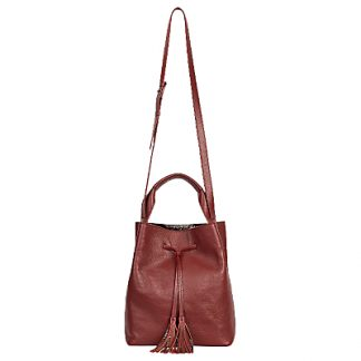 Gerard Darel Le Sazo Leather Bucket Bag