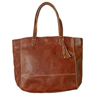 Fat Face Large Leather Tassel Tote Bag