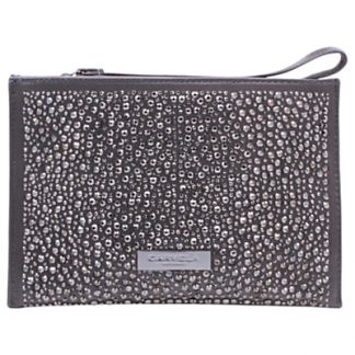 Carvela Genna Pouch Satin Clutch Bag