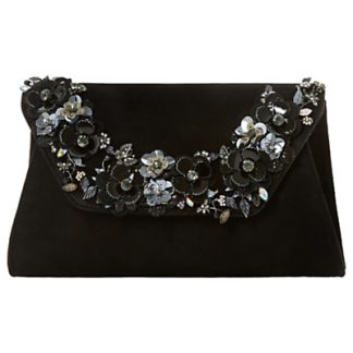 Dune Bathilda Embellished Suede Clutch Bag