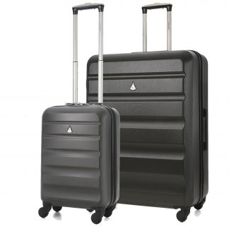 Aerolite Super Lightweight ABS Hard Shell Luggage Set with 4 Wheels