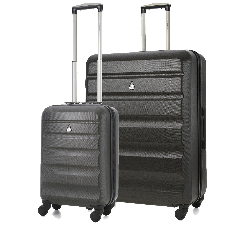 Aerolite Super Lightweight ABS Hard Shell Luggage Set with 4 Wheels