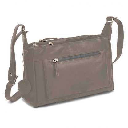 LUCCIO Ladies Sand Leather Shoulder Bag BMB007SND