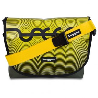 Tagger Yellow Striped Complete Shoulder Bag 5001-GRN-YEL-YEL