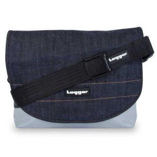 Tagger Denim Complete Shoulder Bag 5001-GRY-DRK DENIM-BLK