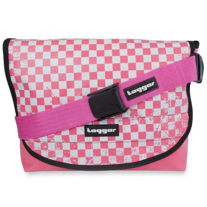 Tagger Pink Chequered Complete Shoulder Bag 5001-PINK-CHK-PINK