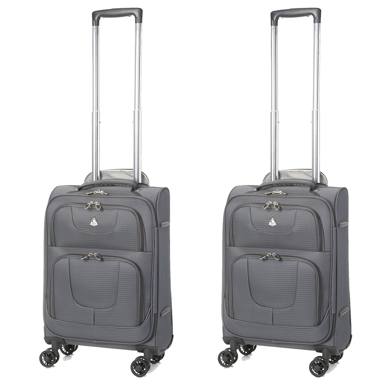 "Aerolite 21"" Lightweight 8 Wheeled Spinner Cabin Suitcase - Set of 2"