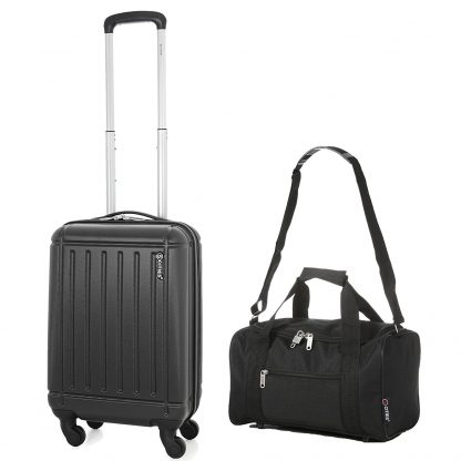 5 Cities Lightweight ABS Hard Shell Cabin Hand Luggage with 4 Wheels