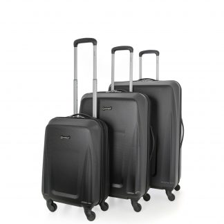 5 Cities Lightweight ABS Hard Shell Suitcase with 4 Wheels Set of 3