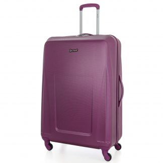 5 Cities Lightweight ABS Hard Shell Carry On Suitcase with 4 Wheels