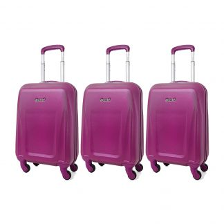 5 Cities Lightweight ABS Hard Shell Hand Luggage Suitcase - 4 Wheels