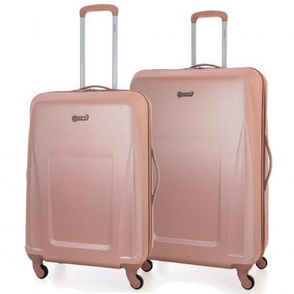 5 Cities Lightweight ABS Hard Shell Suitcase - 4 Wheels