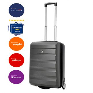 Aerolite 55x40x20cm Hard Shell 2 Wheel Lightweight Suitcase