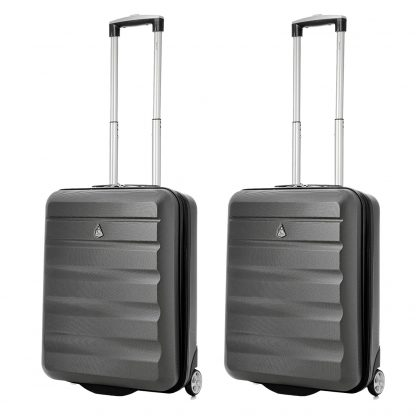 Aerolite Hard Shell Lightweight Suitcase 55x40x20 - 2 Wheels Set of 2