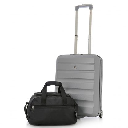 Set of 2 - Aerolite Hard Shell Suitcase 55x40x20cm & Bag 35x20x20cm