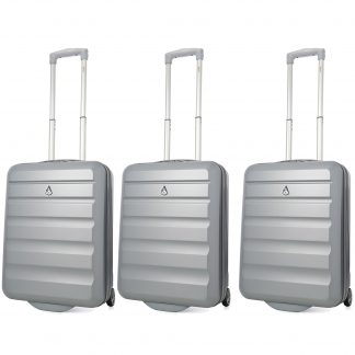 Aerolite Hard Shell Lightweight Suitcase 55x40x20 - 2 Wheels Set of 3