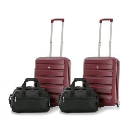 Set of 4: 2 x Aerolite Hard Shell Suitcase 55x40x20cm & Bag 35x20x20cm