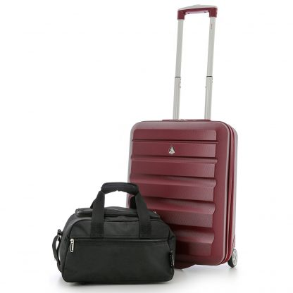 Set of 2 - Aerolite Hard Shell Suitcase 55x40x20cm & Bag 35x20x20cm