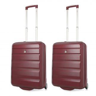 Aerolite Hard Shell Lightweight Suitcase 55x40x20 - 2 Wheels Set of 2