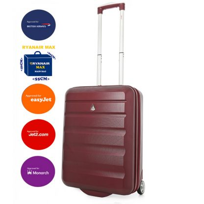 Aerolite 55x40x20cm Hard Shell 2 Wheel Lightweight Suitcase