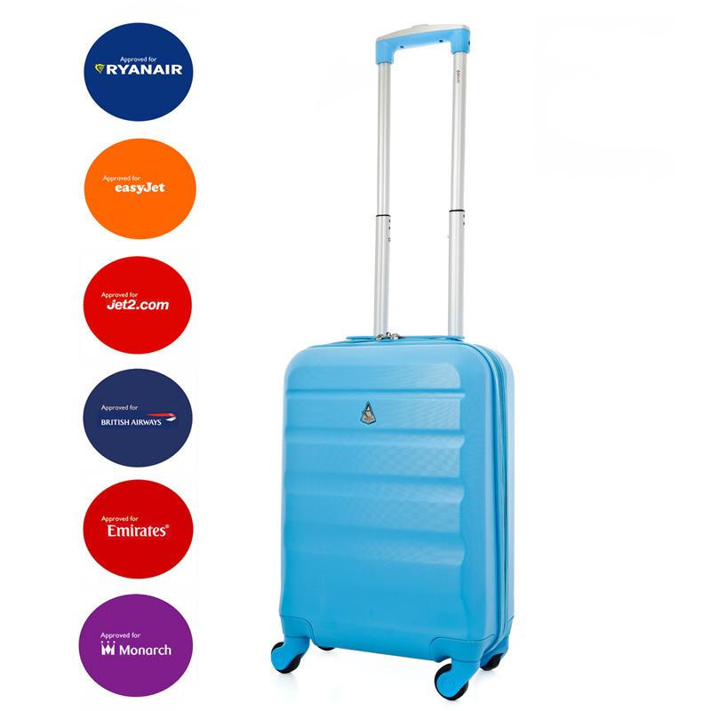 Aerolite Super Lightweight ABS Hard Shell Suitcase with 4 Wheels