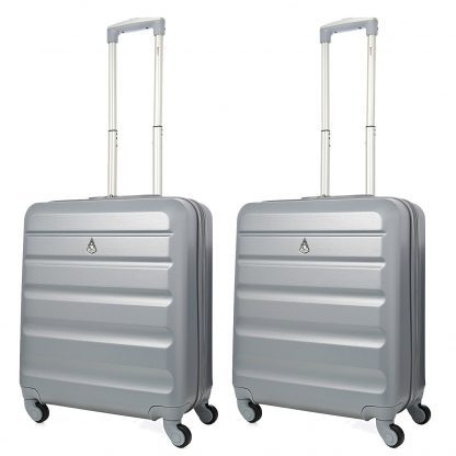 2 x Aerolite Lightweight 56x45x25cm Hard Shell Spinner Case 4 Wheels