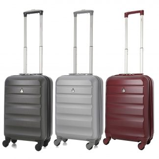 Aerolite Super Lightweight ABS Hard Shell Suitcase - 4 Wheels Set of 3