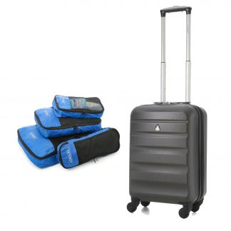 Aerolite Super Lightweight ABS Hard Shell Travel Suitcase 4 Wheels