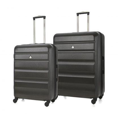 Aerolite ABS Hard Shell Plastic 4 Wheel Luggage Set