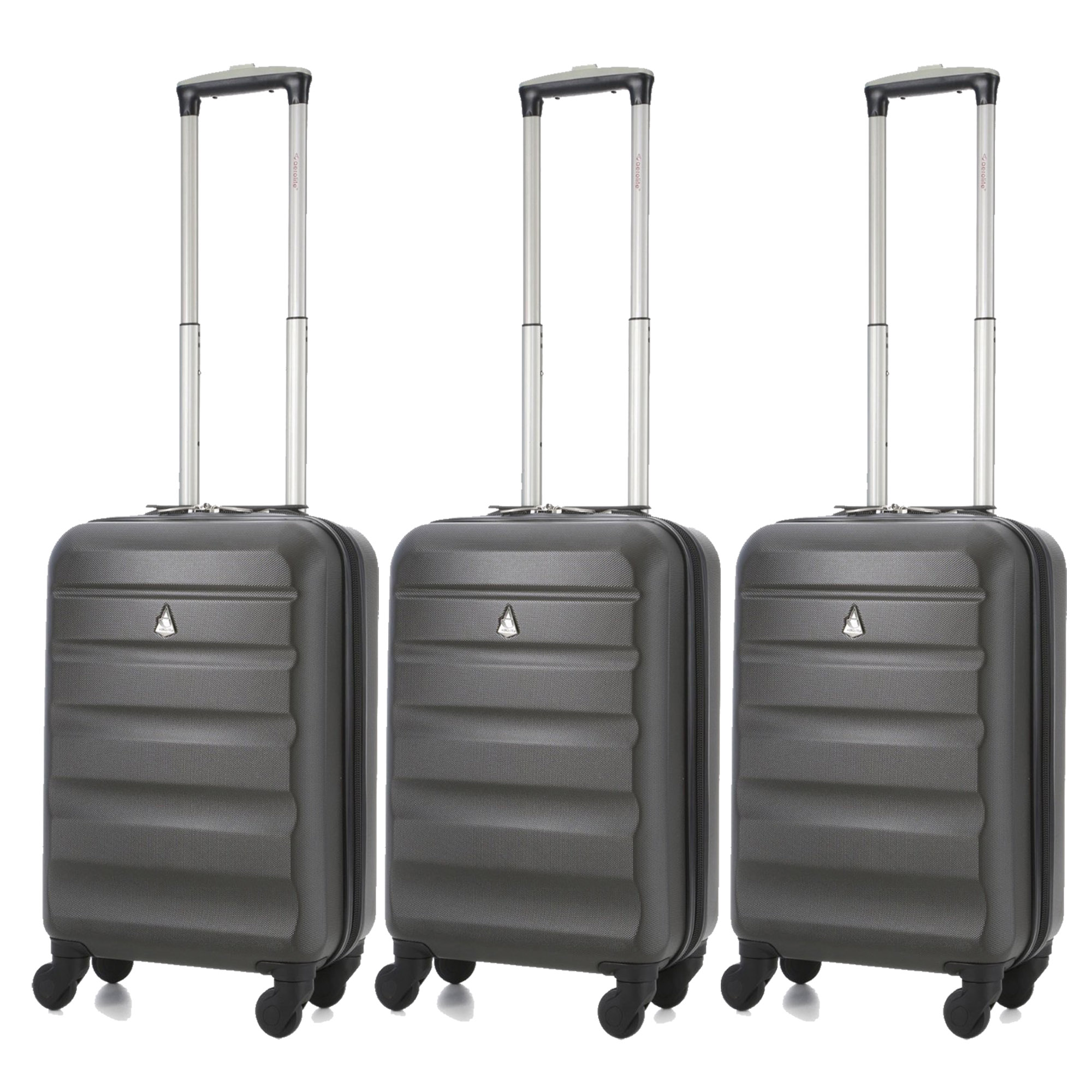 Aerolite Super Lightweight ABS Hard Shell Suitcase - 4 Wheels Set of 3