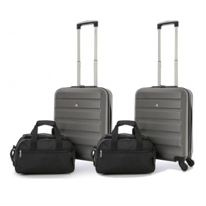 55x40x20cm and 35x20x20cm Aerolite Hard Shell Suitcase & Additonal Bag