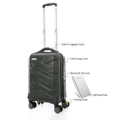 Aerolite SMART Suitcase USB Port