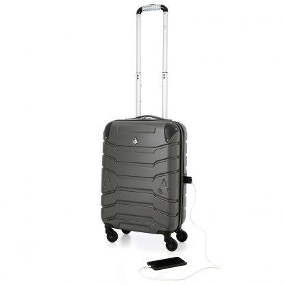Aerolite SMART Suitcase USB Phone Charger Port