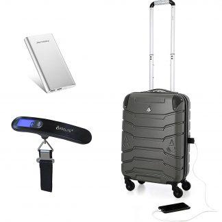 Aerolite SMART Suitcase with USB Port