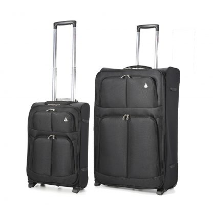 "Aerolite 2 Wheel Super Lightweight Upright Suitcase (21""/29"") Set of 2"