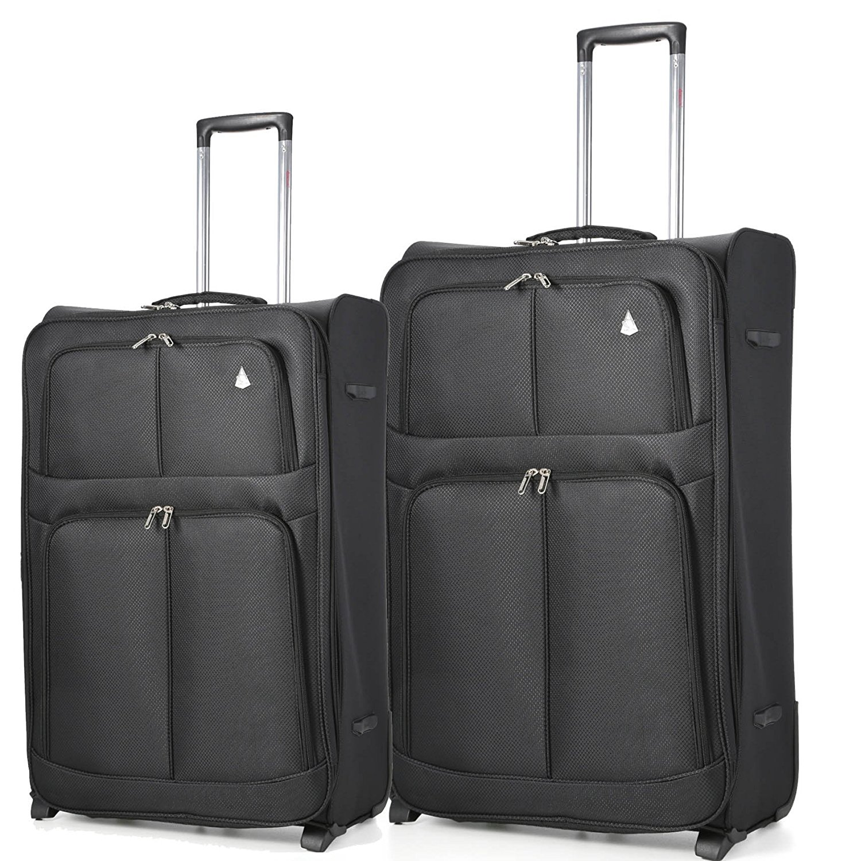 "Aerolite 2 Wheel Super Lightweight Upright Suitcase (21""/29"") Set of 2"