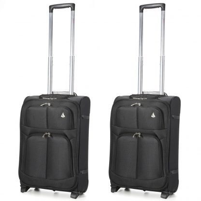 Aerolite Super Lightweight Travel Cabin Hand Luggage with 2 Wheels