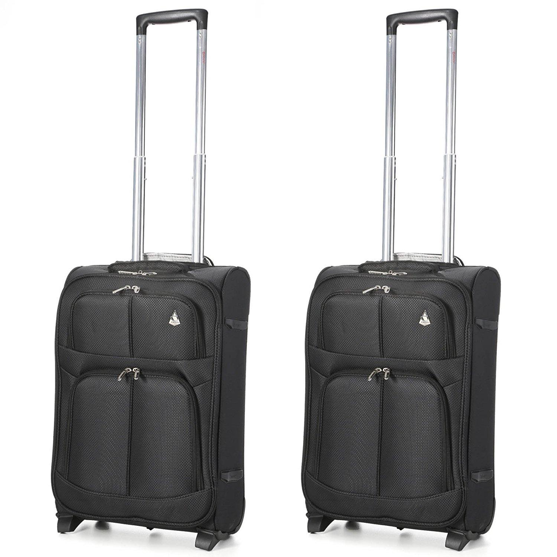 Aerolite Super Lightweight Travel Cabin Hand Luggage with 2 Wheels