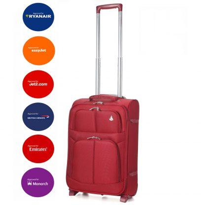 """Aerolite 9613 Lightweight 21"""" (55cm) 2 Wheel Cabin Hand Luggage"""