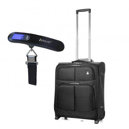 Aerolite 56x45x25cm & 50kg/100lbs Lightweight 2 Wheel Suitcase