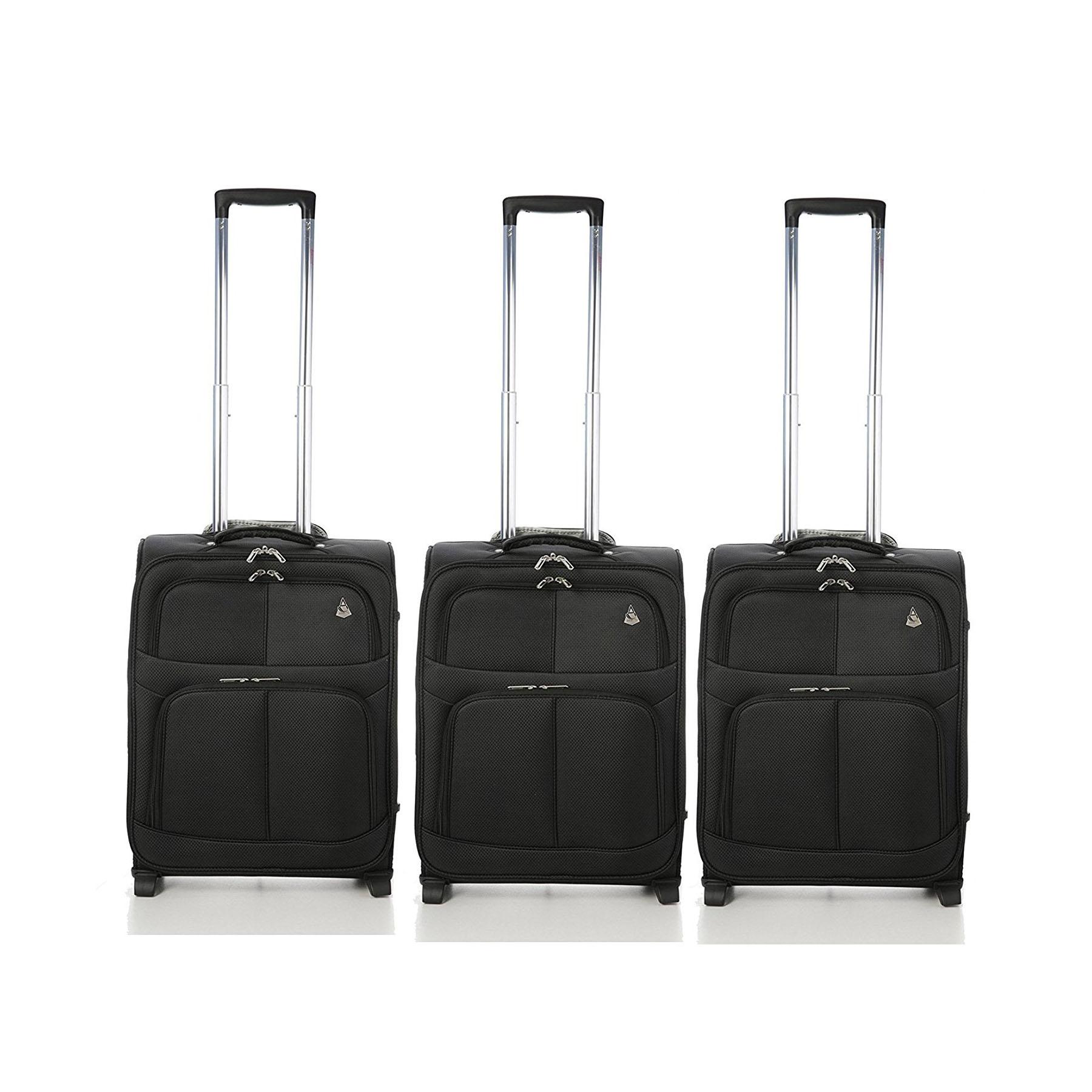 Aerolite 55x40x20 Super Lightweight Carry On Hand Suitcase 2 Wheels