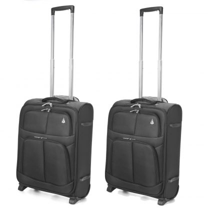 Aerolite 55x40x20 Cabin  Super Lightweight Hand Suitcase 2 Wheels