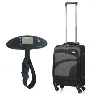 "Aerolite 21"" 55cm Ultra Lightweight 4 Wheel Spinner Travel Bag & Scale"
