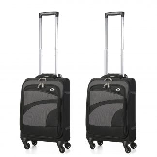 "Aerolite 21"" Ultra Lightweight 4 Wheel Spinner Carry On Bag - Set of 2"