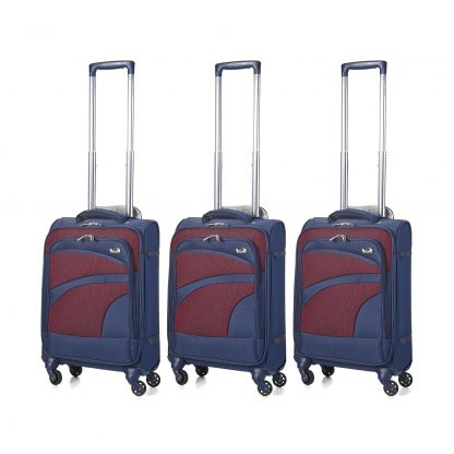 Aerolite Ultra Lightweight Spinner Suitcase 4 Wheels (3 x Cabin